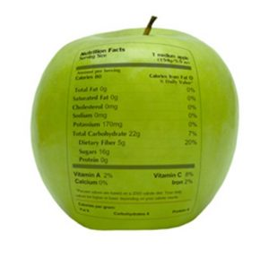 etiqueta en alimentos no procesados